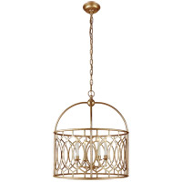 Visual Comfort E.F. Chapman Marquise 6 Light Foyer Pendant in Gilded Iron CHC2535GI