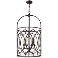 E.F. Chapman Marquise 6 Light 21 inch Aged Iron Foyer Pendant Ceiling Light