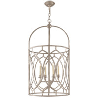 Visual Comfort E.F. Chapman Marquise 6 Light Foyer Pendant in Burnished Silver Leaf CHC2536BSL