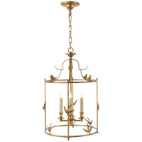 Visual Comfort E.F. Chapman Diego 4 Light Ceiling Lantern in Gilded Iron with Wax CHC3108GI