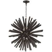 E. F. Chapman Lawrence 20 Light 30 inch Aged Iron Sputnik Chandelier Ceiling Light