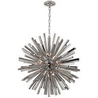 Visual Comfort CHC3112PN E. F. Chapman Lawrence 20 Light 30 inch Polished Nickel Sputnik Chandelier Ceiling Light