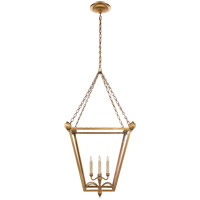 E. F. Chapman Dumfries 4 Light 22 inch Antique-Burnished Brass Foyer Lantern Ceiling Light in Antique Burnished Brass