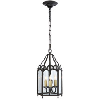 Visual Comfort E.F. Chapman French Market 3 Light Ceiling Lantern in Hand Painted Blackened Rust CHC3413BR