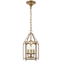 Visual Comfort E.F. Chapman French Market 3 Light Foyer Pendant in Gilded Iron with Wax CHC3413GI