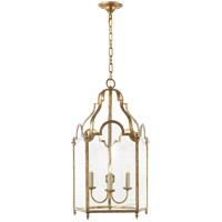 Visual Comfort E.F. Chapman French Market 3 Light Ceiling Lantern in Gilded Iron with Wax CHC3414GI