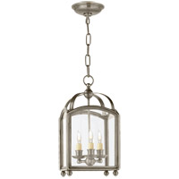 Visual Comfort E.F. Chapman Arch Top 3 Light Foyer Pendant in Antique Nickel CHC3420AN