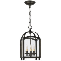 Visual Comfort E.F. Chapman Arch Top 3 Light Ceiling Lantern in Bronze with Wax CHC3420BZ