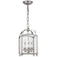 Visual Comfort E.F. Chapman Arch Top 3 Light Foyer Pendant in Polished Nickel CHC3420PN