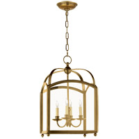 Visual Comfort E.F. Chapman Arch Top 4 Light Ceiling Lantern in Antique-Burnished Brass CHC3421AB