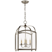 Visual Comfort E.F. Chapman Arch Top 4 Light Foyer Pendant in Antique Nickel CHC3421AN