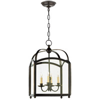 Visual Comfort E.F. Chapman Arch Top 4 Light Foyer Pendant in Bronze with CHC3421BZ