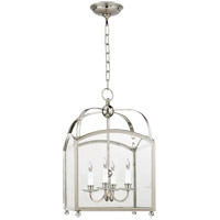Visual Comfort E.F. Chapman Arch Top 4 Light Foyer Pendant in Polished Nickel CHC3421PN