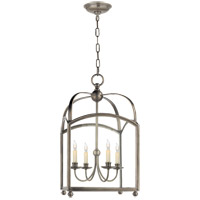 Visual Comfort E.F. Chapman Arch Top 4 Light Foyer Pendant in Antique Nickel CHC3422AN