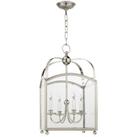 Visual Comfort E.F. Chapman Arch Top 4 Light Foyer Pendant in Polished Nickel CHC3422PN
