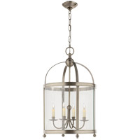 Visual Comfort E.F. Chapman Edwardian 5 Light Foyer Pendant in Antique Nickel CHC3423AN