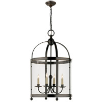 Visual Comfort E.F. Chapman Edwardian 5 Light Ceiling Lantern in Bronze with Wax CHC3423BZ