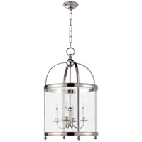 Visual Comfort E.F. Chapman Edwardian 5 Light Foyer Pendant in Polished Nickel CHC3423PN