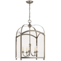 Visual Comfort CHC3425AN E. F. Chapman Arch Top 5 Light 20 inch Antique Nickel Foyer Pendant Ceiling Light