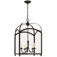 Visual Comfort E.F. Chapman Arch Top 5 Light Ceiling Lantern in Bronze with Wax CHC3425BZ