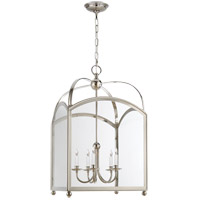Visual Comfort E.F. Chapman Arch Top 5 Light Foyer Pendant in Polished Nickel CHC3425PN