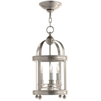 Visual Comfort E.F. Chapman Edwardian 3 Light Foyer Pendant in Antique Nickel CHC3426AN