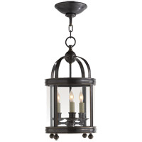 Visual Comfort E.F. Chapman Edwardian 3 Light Ceiling Lantern in Bronze with Wax CHC3426BZ
