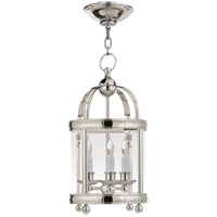 Visual Comfort E.F. Chapman Edwardian 3 Light Foyer Pendant in Polished Nickel CHC3426PN
