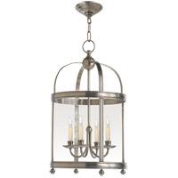 E.F. Chapman Edwardian 4 Light 15 inch Antique Nickel Foyer Pendant Ceiling Light