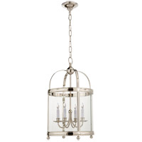 Visual Comfort E.F. Chapman Edwardian 4 Light Foyer Pendant in Polished Nickel CHC3427PN