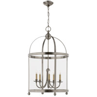 Visual Comfort E.F. Chapman Edwardian 5 Light Foyer Pendant in Antique Nickel CHC3428AN