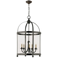 Visual Comfort E.F. Chapman Edwardian 5 Light Ceiling Lantern in Bronze with Wax CHC3428BZ