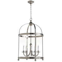 Visual Comfort E.F. Chapman Edwardian 5 Light Foyer Pendant in Polished Nickel CHC3428PN