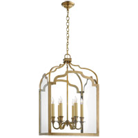 Visual Comfort E.F. Chapman Westminster 6 Light Foyer Pendant in Antique-Burnished Brass CHC3436AB