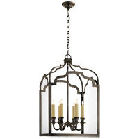 Visual Comfort E.F. Chapman Westminster 6 Light Foyer Pendant in Bronze CHC3436BZ
