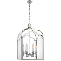 Visual Comfort E.F. Chapman Westminster 6 Light Foyer Pendant in Polished Nickel CHC3436PN