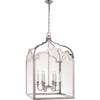 Visual Comfort E.F. Chapman Westminster 6 Light Ceiling Lantern in Antique-Burnished Brass CHC3437AB