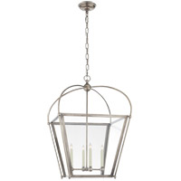 E.F. Chapman Plantation 4 Light 21 inch Antique Nickel Foyer Lantern Ceiling Light, E.F. Chapman, Medium, Clear Glass