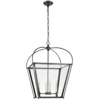 Visual Comfort CHC3439BZ-CG E. F. Chapman Plantation 4 Light 21 inch Bronze Foyer Lantern Ceiling Light, E.F. Chapman, Medium, Clear Glass