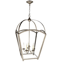 Visual Comfort E.F. Chapman Arch Top 5 Light Foyer Pendant in Antique Nickel CHC3441AN