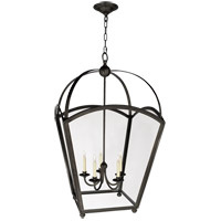 Visual Comfort E.F. Chapman Arch Top 5 Light Ceiling Lantern in Bronze with Wax CHC3441BZ