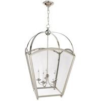 Visual Comfort E.F. Chapman Arch Top 5 Light Foyer Pendant in Polished Nickel CHC3441PN