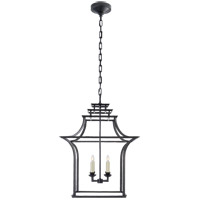 Visual Comfort E.F. Chapman Brighton 4 Light Foyer Pendant in Aged Iron CHC3444AI