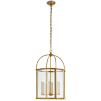 Visual Comfort CHC3451AB-CG Chapman & Myers Plantation 6 Light 19 inch Antique-Burnished Brass Round Lantern Pendant Ceiling Light, Medium