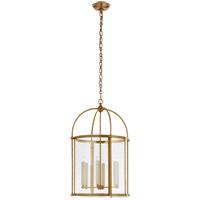 Visual Comfort CHC3451AB-CG Chapman & Myers Plantation 6 Light 19 inch Antique-Burnished Brass Round Lantern Pendant Ceiling Light Medium