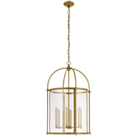 Visual Comfort CHC3452AB-CG Chapman & Myers Plantation 6 Light 22 inch Antique-Burnished Brass Round Lantern Pendant Ceiling Light, Large