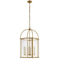 Visual Comfort CHC3452AB-CG Chapman & Myers Plantation 6 Light 22 inch Antique-Burnished Brass Round Lantern Pendant Ceiling Light Large
