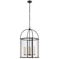 Visual Comfort CHC3452BZ-CG Chapman & Myers Plantation 6 Light 22 inch Bronze Round Lantern Pendant Ceiling Light Large