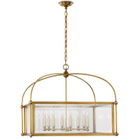 Visual Comfort CHC3453AB-CG E. F. Chapman Plantation 8 Light 29 inch Antique-Burnished Brass Lantern Pendant Ceiling Light, Wide Square