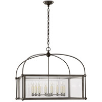 Visual Comfort CHC3453BZ-CG E. F. Chapman Plantation 8 Light 29 inch Bronze Lantern Pendant Ceiling Light, Wide Square